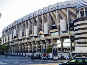Real Madrid Santiago Bernabeu stadium Paseo de la Castellana