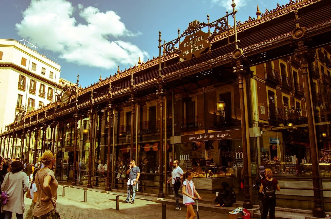 San Miguel market in Madrid for the bets tapas